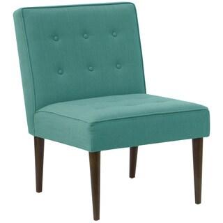 angelo:HOME Button-tufted Laguna Blue Modern Chair
