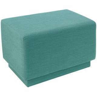 angelo:HOME Blue/Laguna Linen/Polyester/Polyurethane/Pine Square Ottoman