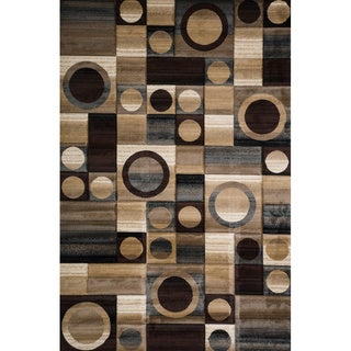 Christopher Knight Home Winona Carmen Brown Geometric Rug (8' x 10')