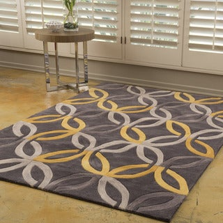 Christopher Knight Home Winifred Abbot Grey Polyester Rug (8' x 10')