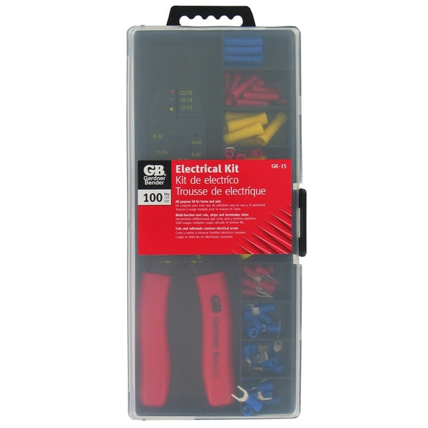 GB Gardner Bender GK-15N Insulated Terminal & Crimping Tool Kit 100 Piece
