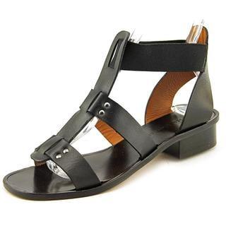 Modern Vintage Women's Tanji Black Leather Sandals