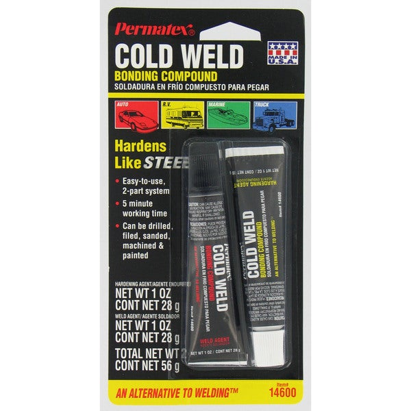 Permatex 14600 2-count 1 Oz Cold Weld Bonding Compound