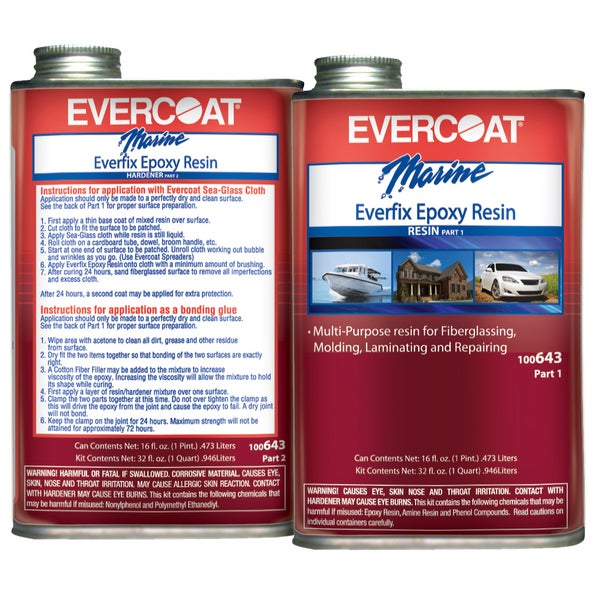 Evercoat 100643 1 Quart Everfix Epoxy Resin