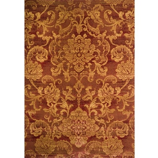 Christopher Knight Home Yetta Lacy Red Floral Rug (5' x 8')