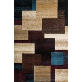 Christopher Knight Home Winona Samantha Teal/Brown Geometric Rug (5' x 8')