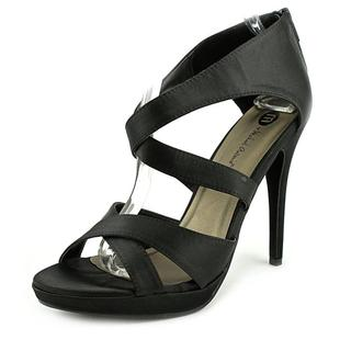 Michael Antonio Women's Taurus Black Satin Sandals