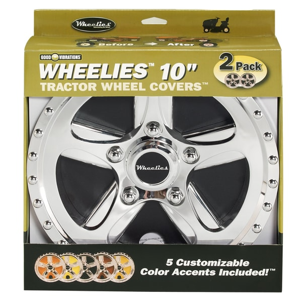 Good Vibrations 180 10-inch Good Vibrations Wheelies Tractor Wheel Cover