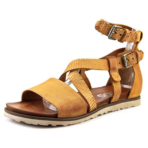Mjus Women's Taurus Tan Leather Gladiator Sandals