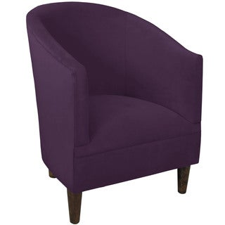 Skyline Furniture Espresso/Aubergine Velvet/Polyester/Polyurethane/Pine Tub Chair