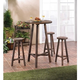 Alaska Wooden Bar 4-piece Table Set