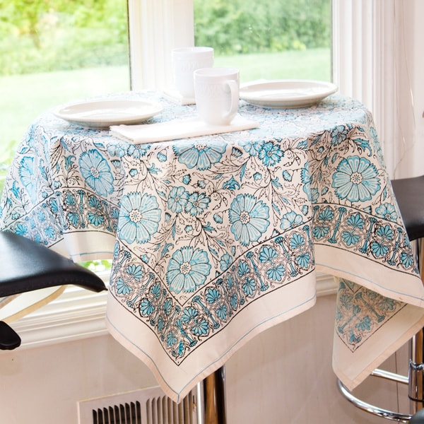 Blue Texana Table Cloth