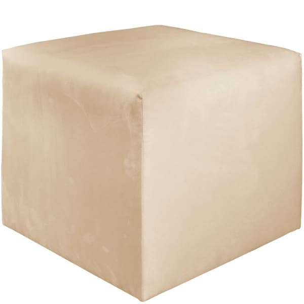 Skyline Furniture Premier Oatmeal Beige Polyester/Polyurethane/Pine Cube Ottoman