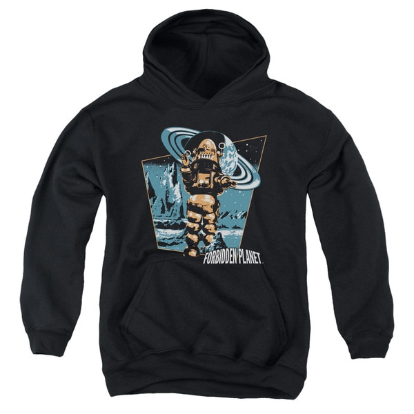Forbidden PlanET/Robby Walks Youth Pull-Over Hoodie in Black