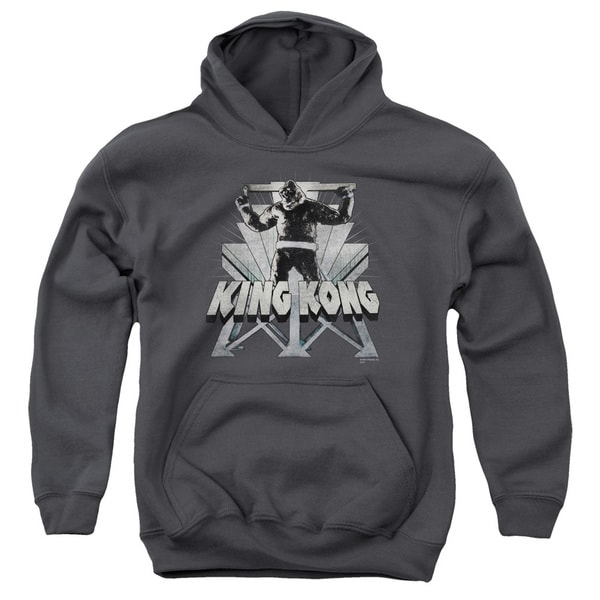 King Kong/8Th Wonder Youth Pull-Over Hoodie in Charcoal