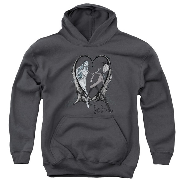 Corpse Bride/Runaway Groom Youth Pull-Over Hoodie in Charcoal
