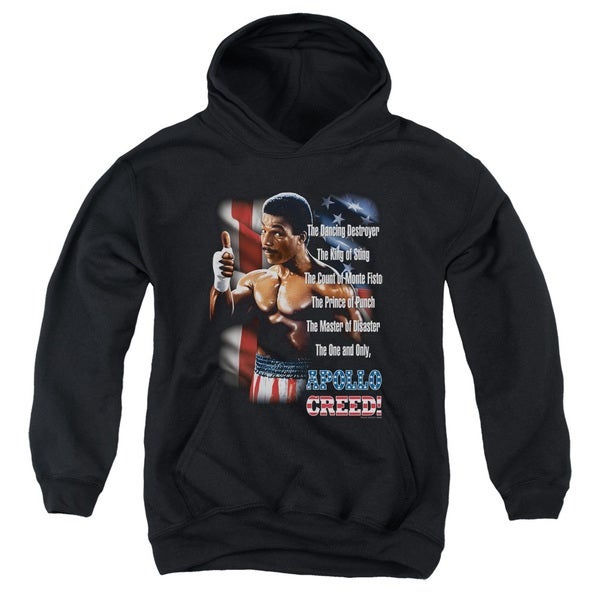 MGM/Rocky Ii/The One and Only Youth Pull-Over Hoodie in Black