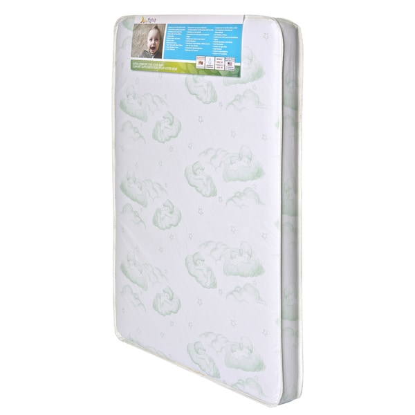 Baby Trand Nursery Center Dream On Me Vinyl 3-inch Inner Spring Square Corner Mattress