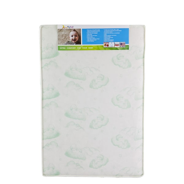 Vinyl 3-inch x 37.5-inch x 25.5-inch Firm Antimicrobial Greenguard Certified Hypoallergenic Play Yard Square Corner Mattress