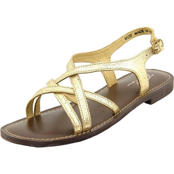 Rebels Women's Terri Gold Leather Gladiator Sandals