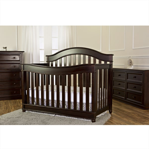 Mia Moda Parkland 5-in-1 LifeStyle Espresso Wood Convertible Crib