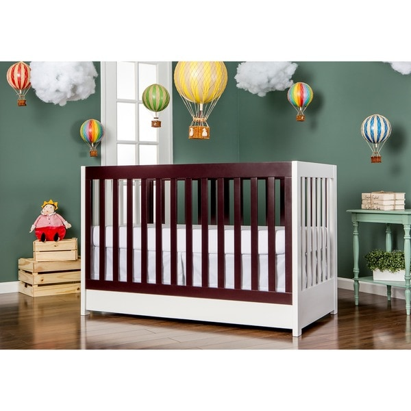 Dream on Me Milano White Wood 5-in-1 Convertible Crib