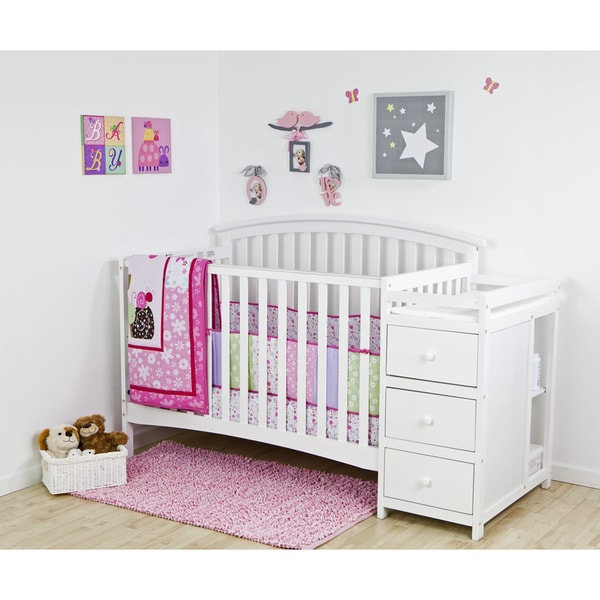 Dream On Me Niko White Wood 5-in-1 Convertible Crib With Changer
