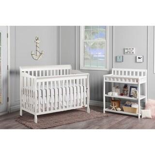 Dream On Me Ashton White Wood 5-in-1 Convertible Crib