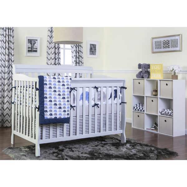 Dream On Me Grey Wood 5-in-1 Ashton Convertible Crib