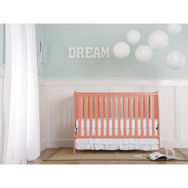 Dream on Me Synergy Pink Wool 5-in-1 Convertible Crib