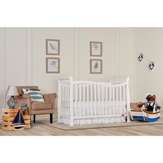 Dream On Me Violet White Wood 7-in-1 Convertible Life Style Crib