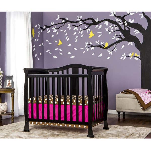 Dream On Me Naples Black Wood Mini Crib