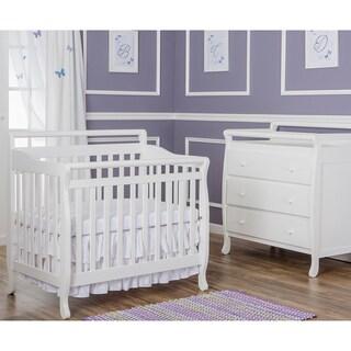 Dream On Me White Wood 4-in-1 Mini Convertible Crib