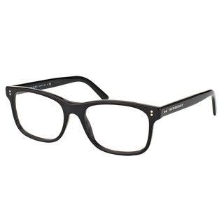 Burberry Unisex BE 2196 3001 Shiny Black Plastic 55-millimeter Rectangle Eyeglasses