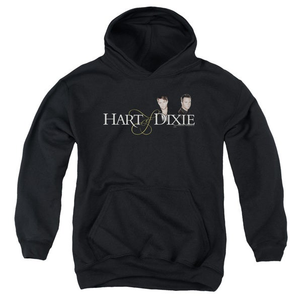 Hart Of Dixie/Logo Youth Pull-Over Hoodie in Black