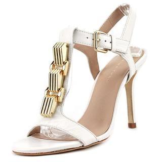 Trina Turk Women's Loyola White Leather Sandals