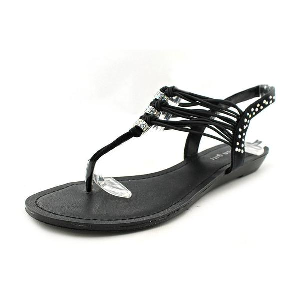 Madden Girl Women's Thrilll Black Basic Textile Sandals