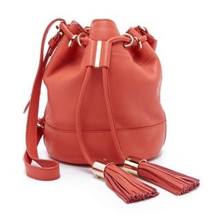See by Chloe Vicki Orange Leather Bucket Bag