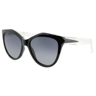 Givenchy GV 7009 AM3 Black Crystal Plastic Cat-Eye Sunglasses Grey Gradient Lens