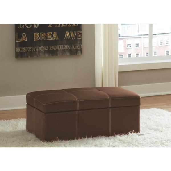 DHP Delaney Brown Large Rectangular Ottoman 19043468