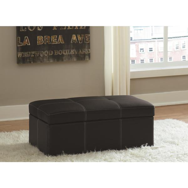 DHP Delaney Black Large Rectangular Ottoman 19043474