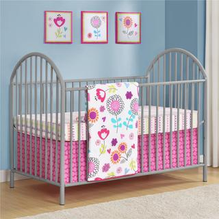 Altra Prism Soft Grey Metal Crib by Cosco