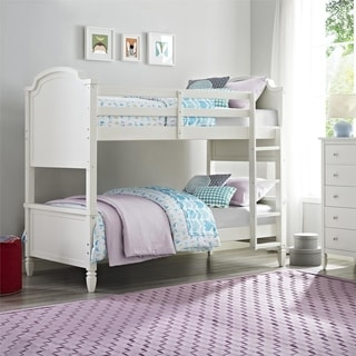Dorel Living Vivienne White Twin over Twin Bunk Bed