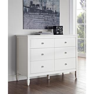 Dorel Living Vivienne White 6-Drawer Dresser