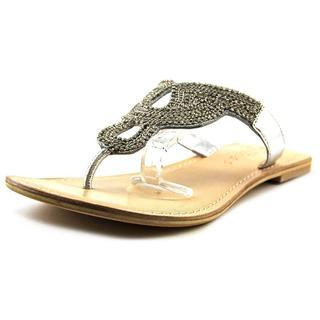 Matisse Women's Tropez Silver Leather Flip Flop Sandals