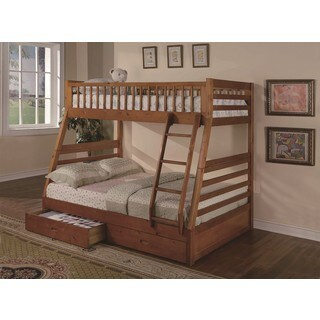LYKE Home Bora Twin/Full Bunkbed with 2 Storage Drawers