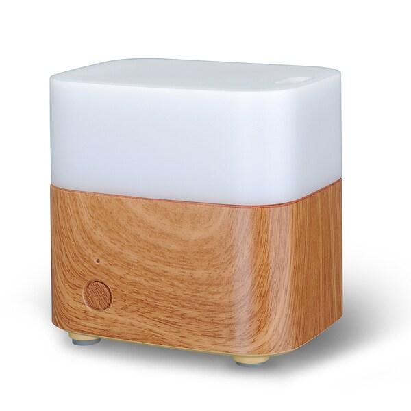 Cool New Wood Grain 120-milliliter Square Aroma Therapy Diffuser 19044145
