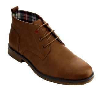 Arider Men's Faux-leather Desert Chukka Boots