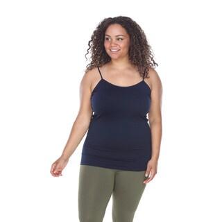 White Mark Women's Polyester Plus Size Basic Tank Top