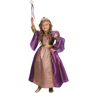Purple Royalty Girls' Multi-colored Polyester Princess Costume